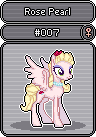 MLP OC Sprite Series GX 7 - Rose Pearl by Kevfin