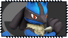 Super Smash Bros Wii U Stamp Series - Lucario by Kevfin