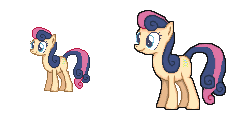 Then and Now - Bon Bon Sprite by Kevfin