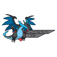Pokemon Sprites GX 1 - Mega Charizard X by Kevfin