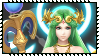 Super Smash Bros Wii U Stamp Series : Palutena by Kevfin