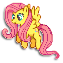 My Little Pony Sprite - Fluttershy by Kevfin