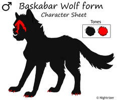 Baskabar Wolf form ref Sheet by Nightrizer