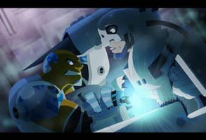 Cyborg vs Andromon by Nightrizer