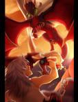 Cynder vs Riku by Nightrizer