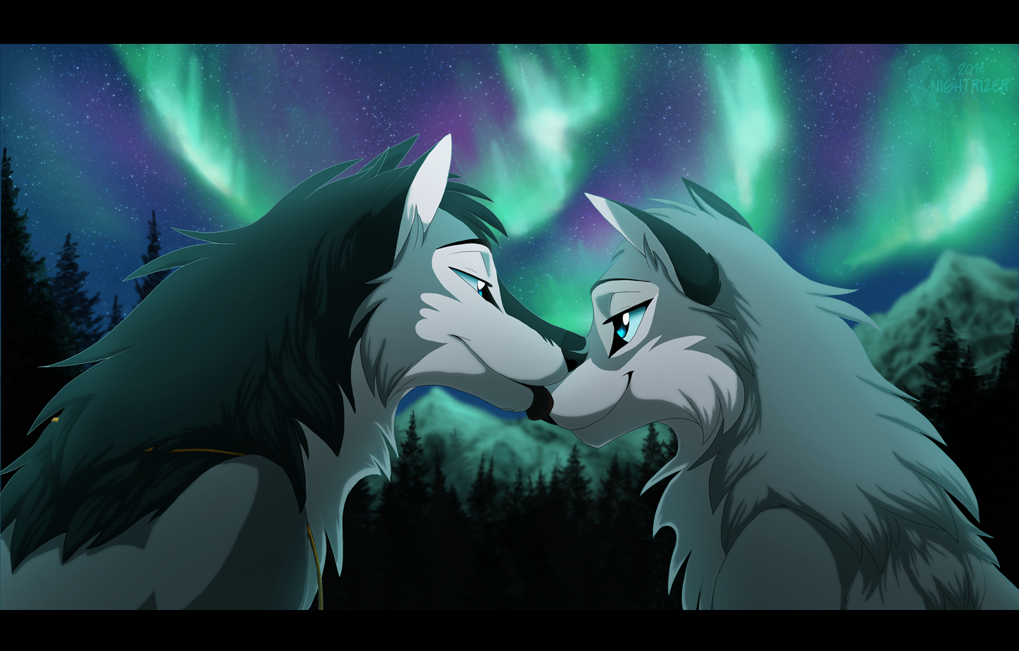 Love 39 s lights by nightrizer on deviantart - Anime wolves in love ...