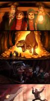 Gravity Falls The Land Before Swine scene re-draws