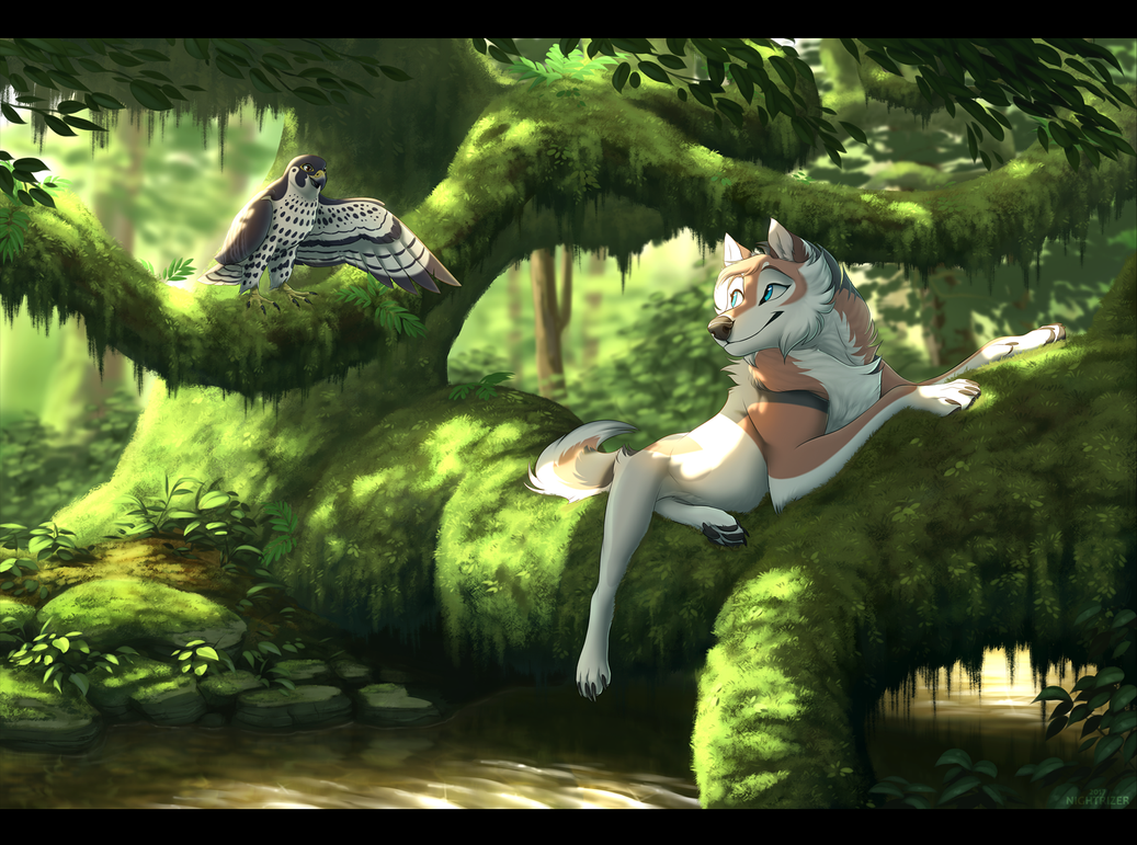 Resting by the Stream by Nightrizer