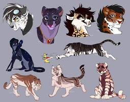 MayaDaBanana Character Sketches by Nightrizer