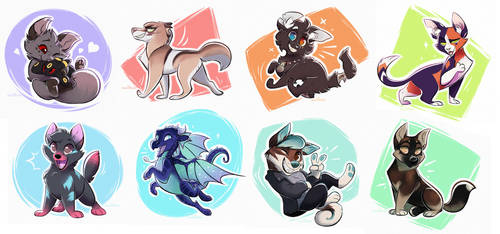 Chibis Batch One by Nightrizer