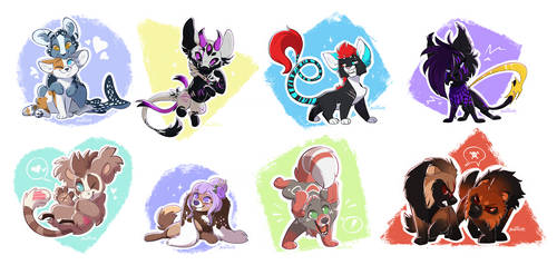 Chibis Batch Three by Nightrizer
