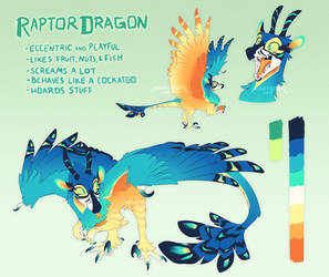 CLOSED Adopt Auction: RaptorDragon by Nightrizer