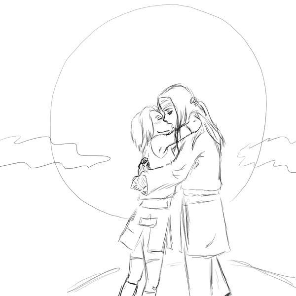 Line Art Love : Nejisaku love lineart by just sasuke on deviantart