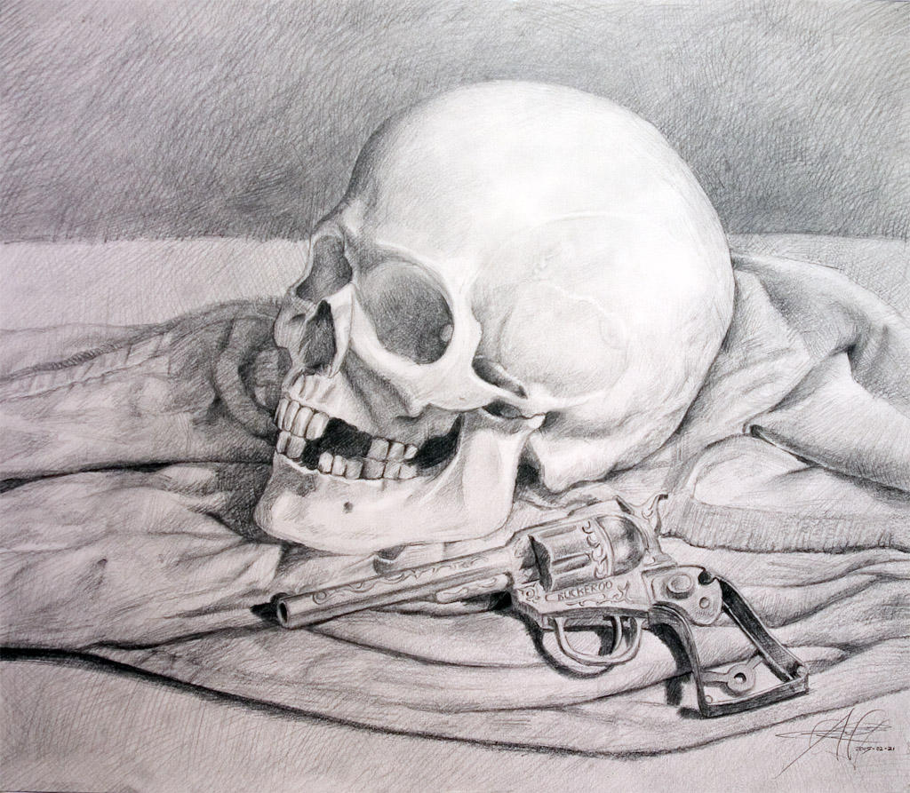 Skull And Guns Unfinished By Ifinch On Deviantart: Guns + Skulls By Anvi On DeviantART