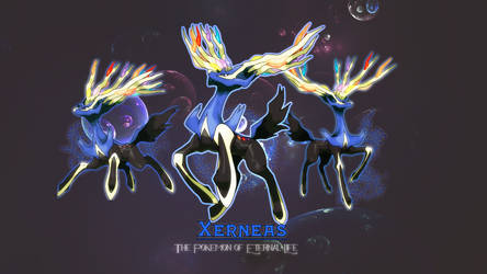 Xerneas - Pokemon of Eternal Life Wallpaper