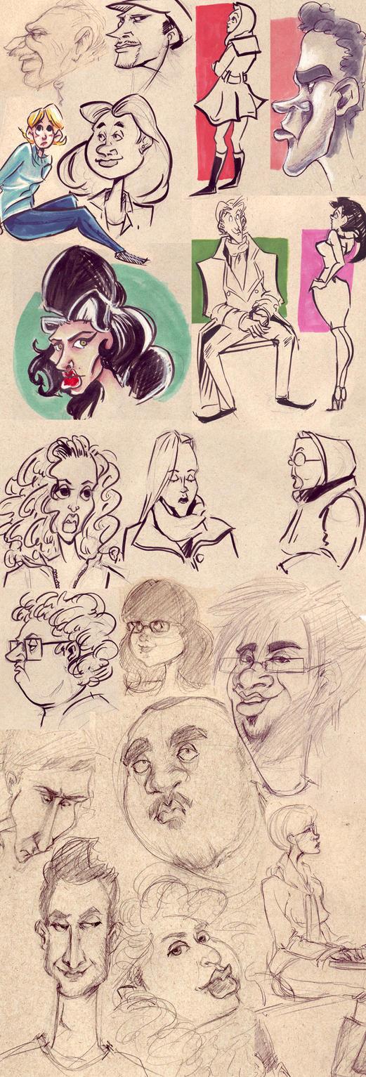 Character Design Sketchbook : Character design sketchbook by ayami on deviantart