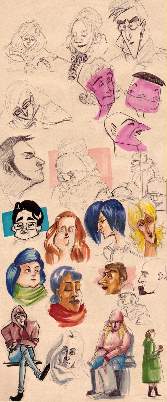 Cafe Sketches - 2nd Semester by ayami