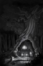 Tonal Lighting Studies - Tree by ayami
