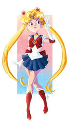 Sailor Moon - Anime North Print 01 by ayami