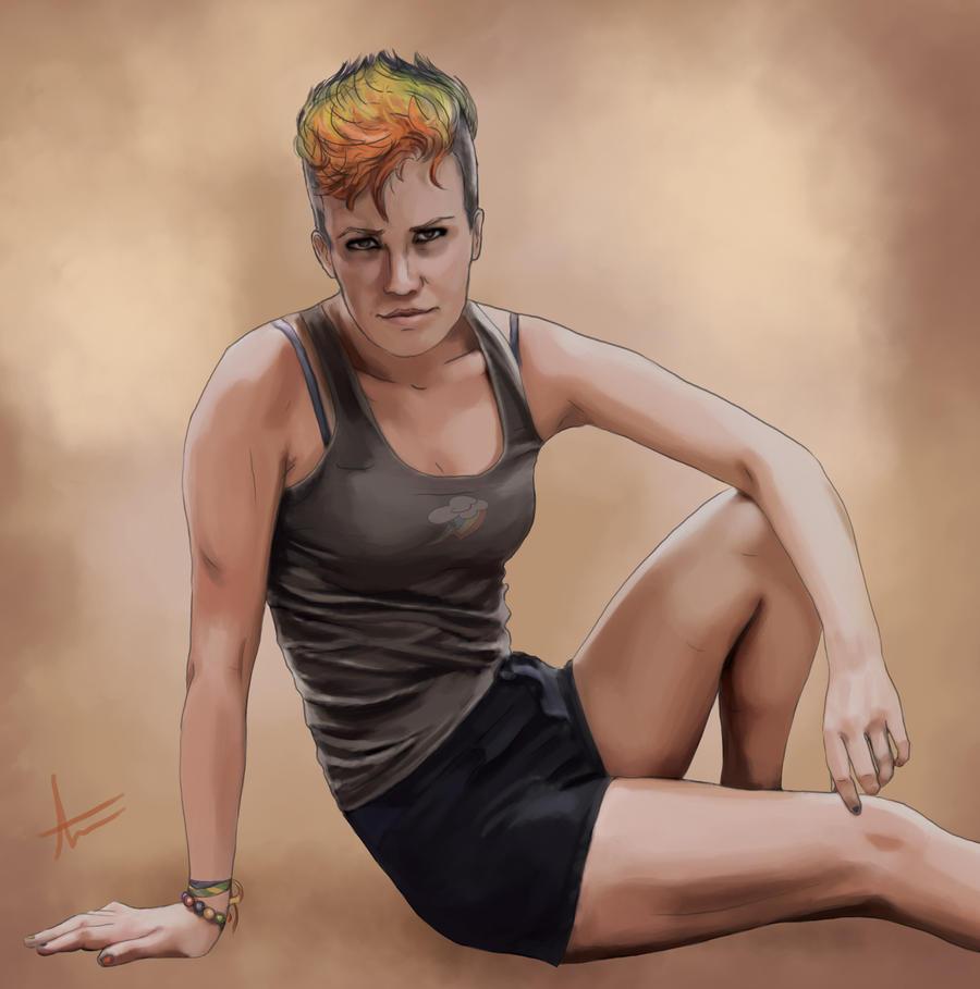 Human Rainbow Dash by Intryck
