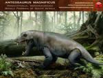 Anteosaurus magnificus by RomanYevseyev