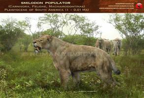 Smilodon populator by RomanYevseyev