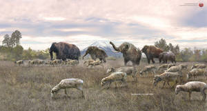 Pleistocene of Japan: saiga, mammoths and Fuji by RomanYevseyev