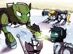 Rangers of Wintertrot. Behemoth Fight