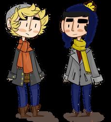 winter boyfriends by Zombietoasts