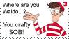 .Stamp. Where's Waldo? by KillMePleaseGod