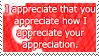 .Stamp. Appreciation