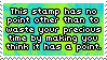 .Stamp. Pointless Stamp by KillMePleaseGod
