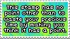 .Stamp. Pointless Stamp by KillMePleaseGod