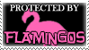 .Stamp. Protected by Flamingos by KillMePleaseGod