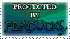 .Stamp. Protected by Peacocks