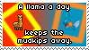 .Stamp. A Llama a Day by KillMePleaseGod