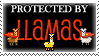 .Stamp. Protected by Llamas by KillMePleaseGod