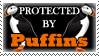 .Stamp. Protected by Puffins by KillMePleaseGod