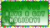 .Stamp. Gay Holiday o1 by KillMePleaseGod