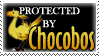 .Stamp. Protected by Chocobos