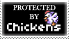 .Stamp. Protected by Chickens by KillMePleaseGod