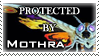 .Stamp. Protected by Mothra by KillMePleaseGod