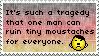 .Stamp. Tiny Moustaches by KillMePleaseGod