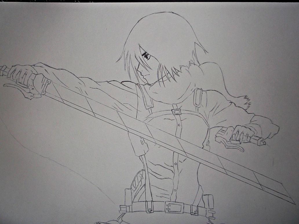 Mikasa Ackerman WIP by Rohtak