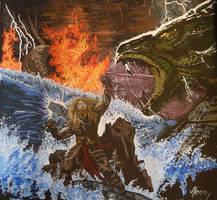 Twlight Of The Thunder God by MeNny-Shamandalie