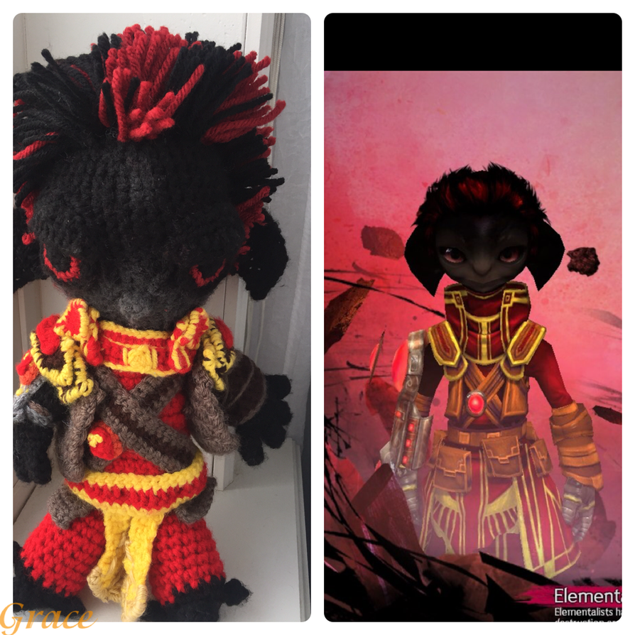 Firestorm- Crochet Asura Elementalist by Graces-Stitch