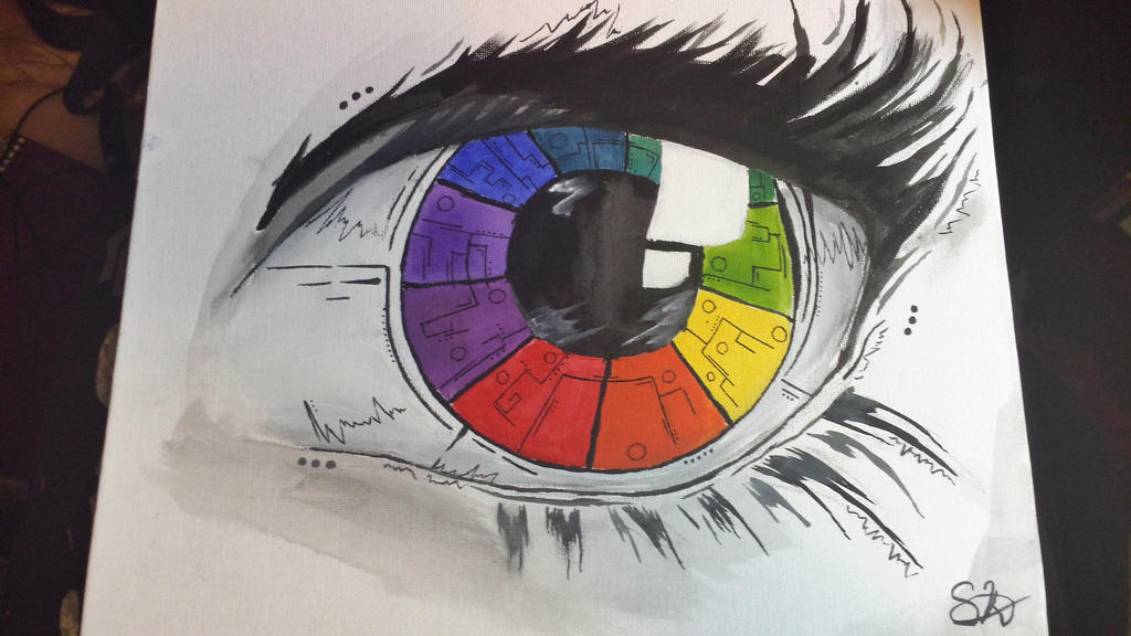 Color Wheel Eye By Sable Of Dominos