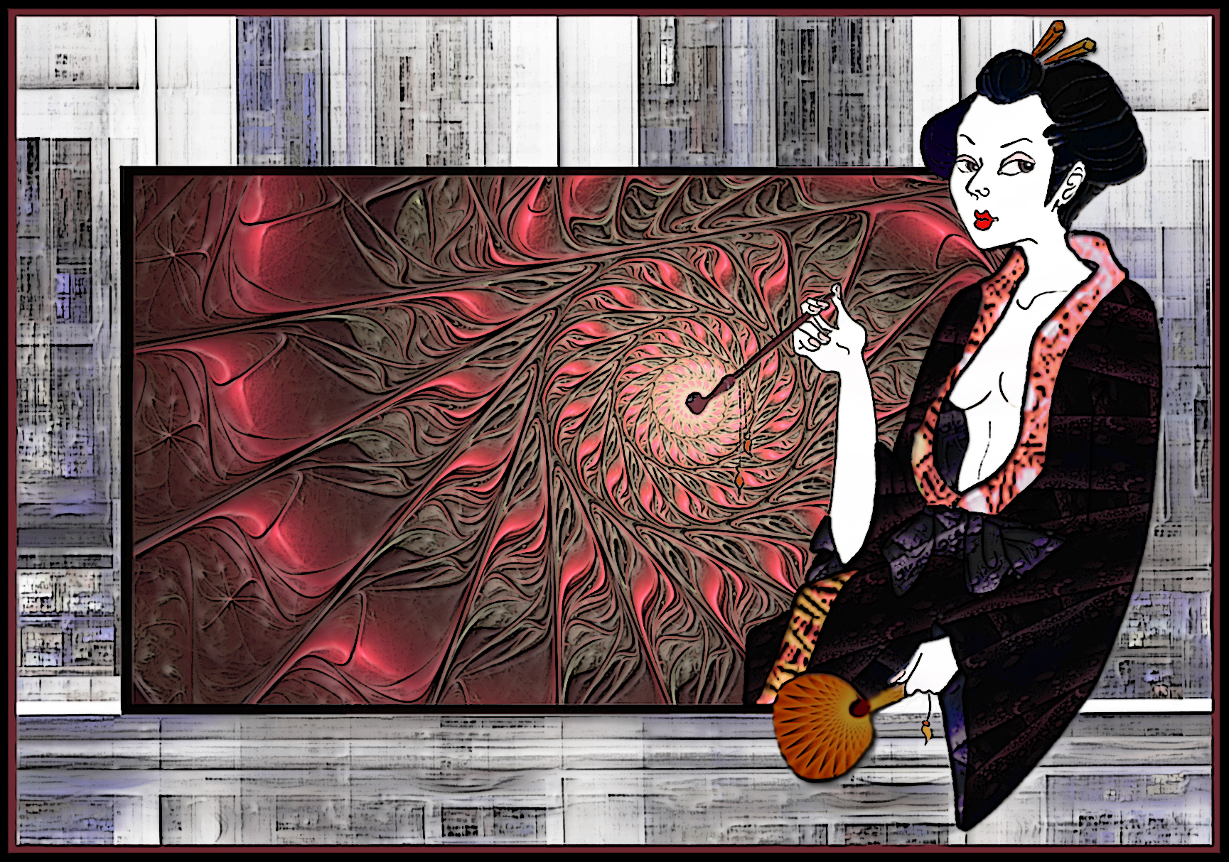 Smoking Geisha by Astrantia01