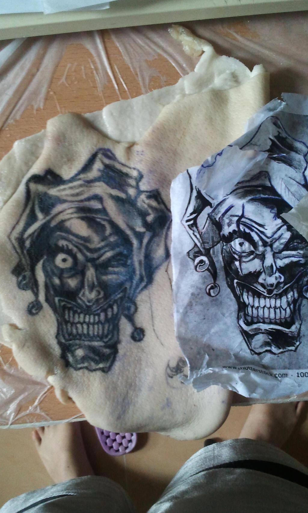 Clown tattoo pratice on pig skin by tommyyu on deviantart for Pig skin tattoo
