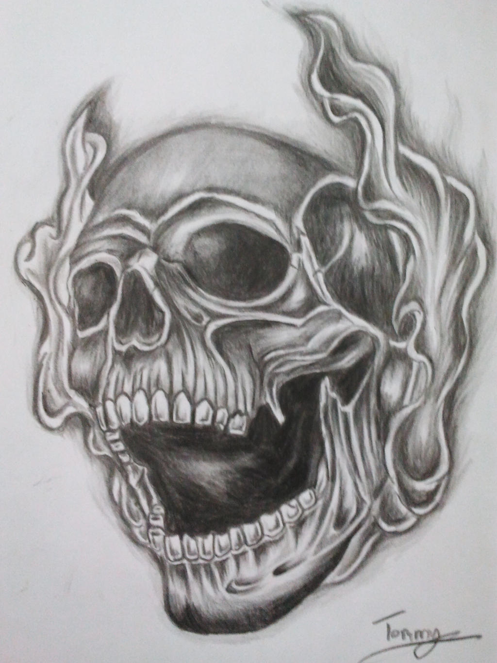 Smoke Skull Tattoo By Tommyyu On Deviantart Smokey The Coloring Pages
